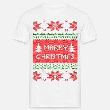 Christmas Knit marry christmas knit - Men's T-Shirt