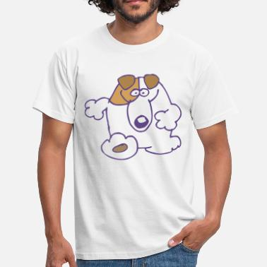 Cartoons Online Smiling Cartoon Dog by Cheerful Madness!! online shop - Men's T-Shirt
