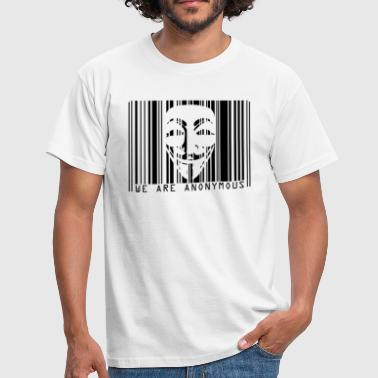 Code Barre CODE BARRE ANONYMOUS - T-shirt Homme