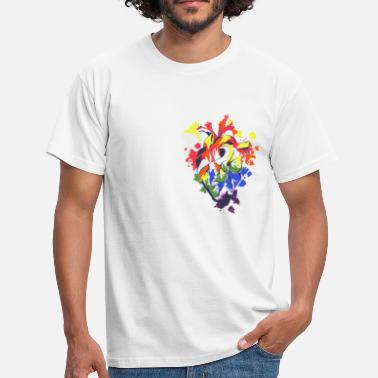 Same Love Rainbow Heartbeat - Männer T-Shirt