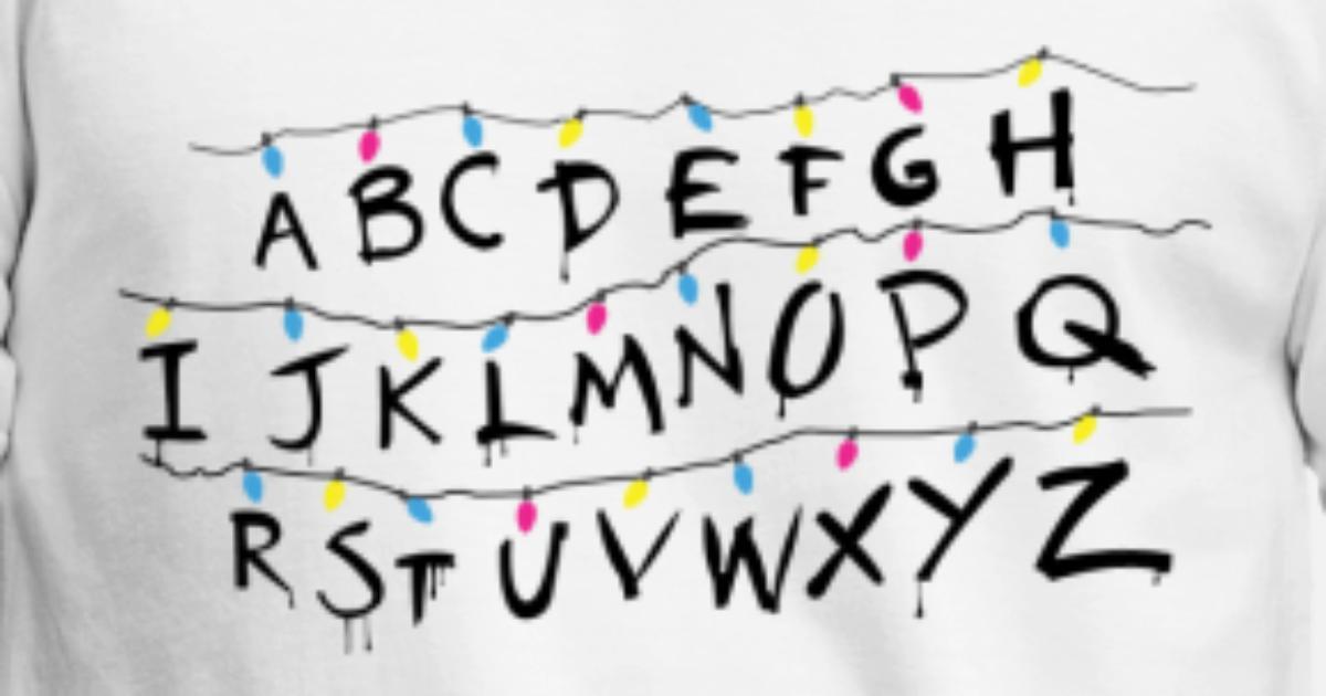 Stranger Things Alphabet Von Nerdsinshirts Spreadshirt