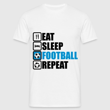 eat sleep football,Fußballer,fußball,soccer - Männer T-Shirt