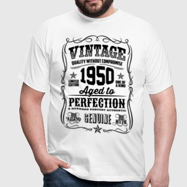 Vintage 1950 Aged to Perfection black - Men's T-Shirt