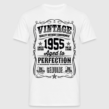 Vintage 1955 Aged to Perfection black - Men's T-Shirt