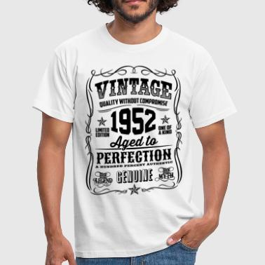 Vintage 1952 Aged to Perfection black - Men's T-Shirt