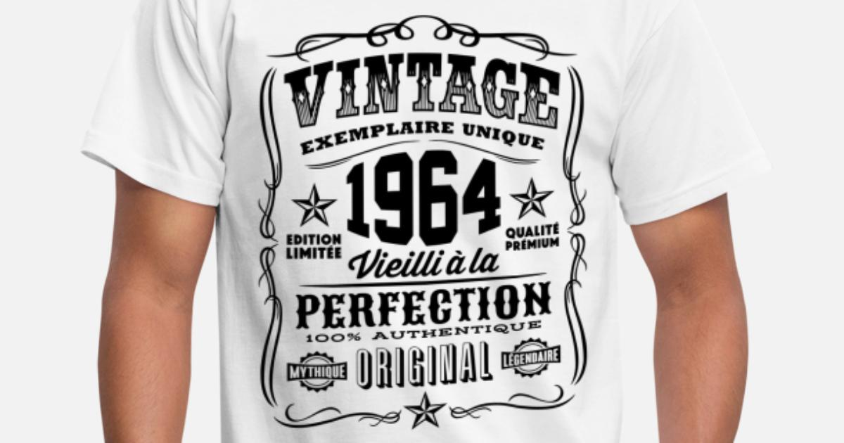 vintage 1964 cadeau anniversaire 55 ans t shirt homme spreadshirt. Black Bedroom Furniture Sets. Home Design Ideas