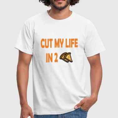 Cut my life in two pizzas - Männer T-Shirt