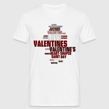Valentine word cloud - Men's T-Shirt