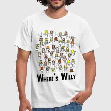 Where's willy - Men's T-Shirt