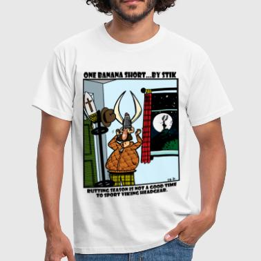 Rutting Season and a Viking Helmet - Men's T-Shirt