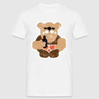 beer bear distressed - Men's T-Shirt