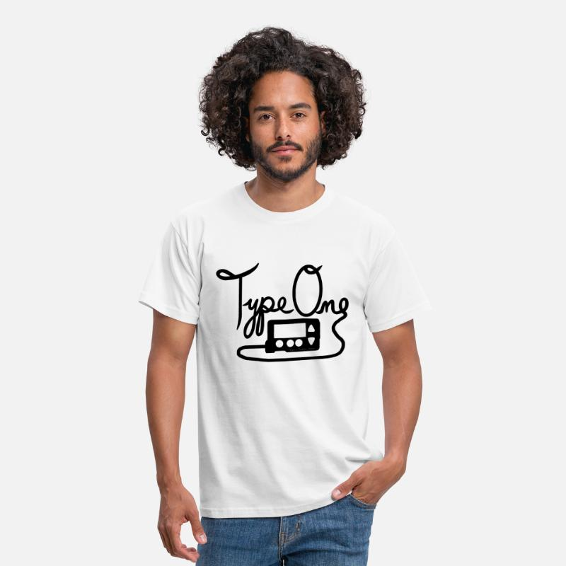 Type T-Shirts - Type One Diabetes - Insulin Pump 1 - Black - Men's T-Shirt white