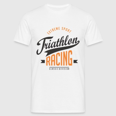 Triathlon Racing Extreme Sport Color - Men's T-Shirt