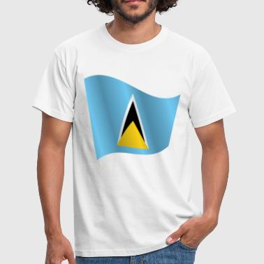 Waving Flag of Saint Lucia - Men's T-Shirt