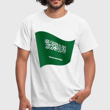 Waving Flag of Saudi Arabia - Men's T-Shirt