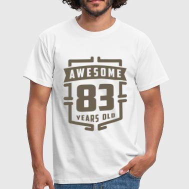 83 Years Awesome 83 Years Old - Men's T-Shirt