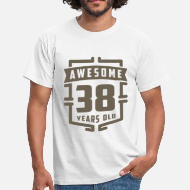 38 Years Awesome 38 Years Old - Men's T-Shirt