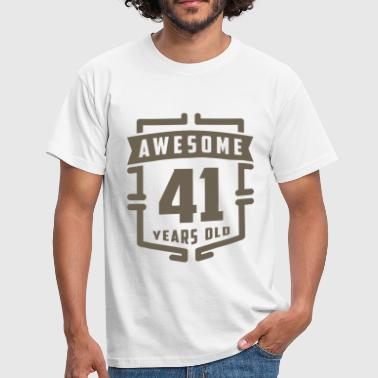 41 Years Awesome 41 Years Old - Men's T-Shirt