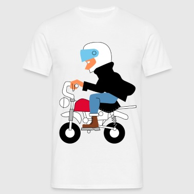 Big man on a liitle motorbike - Men's T-Shirt