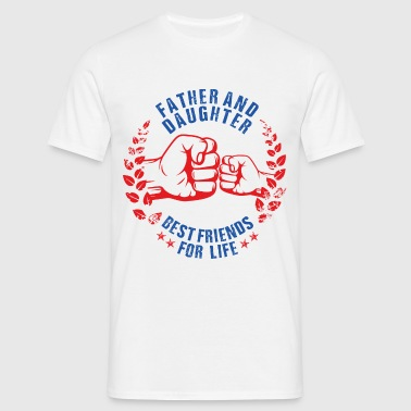Father & Daughter USA - Mannen T-shirt