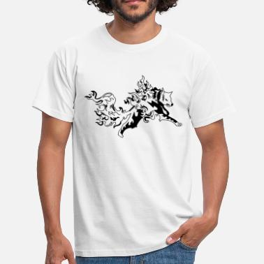 Loups Tatouage Tribal fire wolf - T-shirt Homme