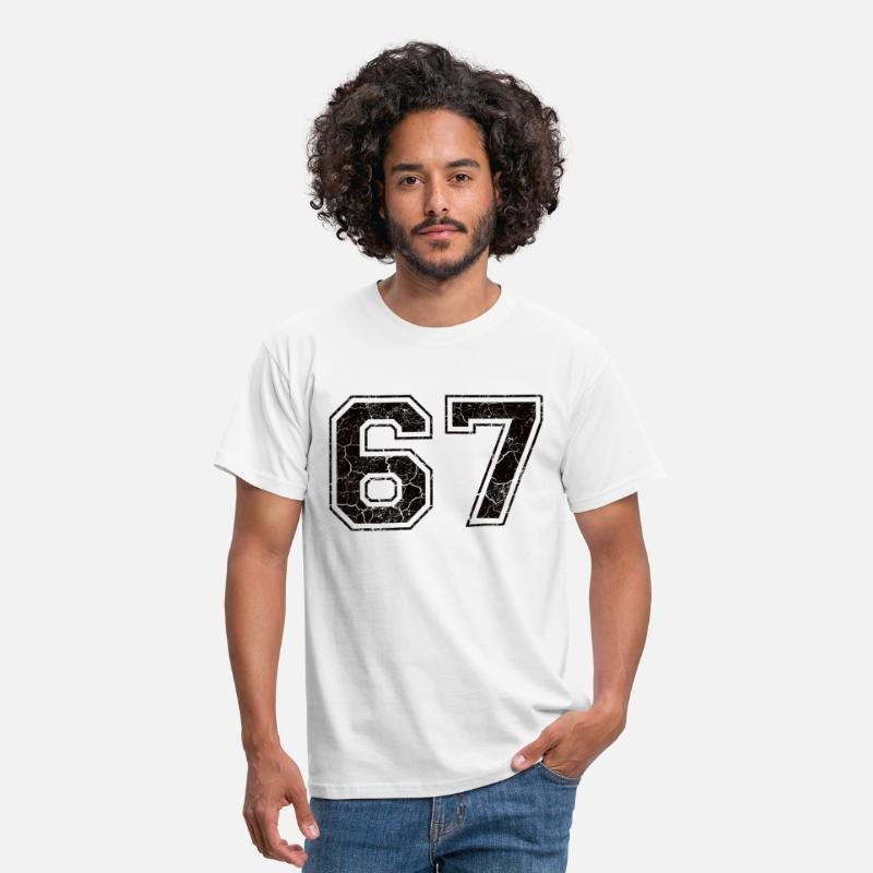 1967 T-Shirts - Number 67 in the grunge look - Men's T-Shirt white