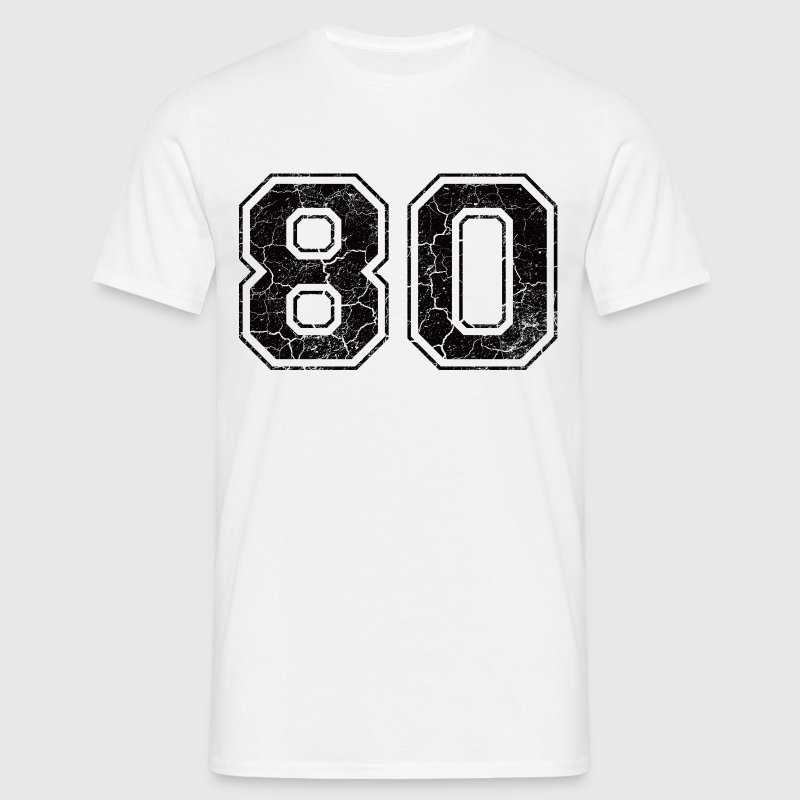Number 80 in the grunge look - Men's T-Shirt