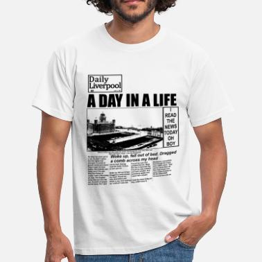John Lennon A Day In A Live - The  - T-Shirt - Men's T-Shirt