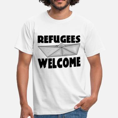 Welcome REFUGEES WELCOME! - Men's T-Shirt