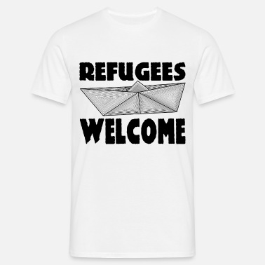 Refugees Welcome REFUGEES WELCOME! - Men's T-Shirt
