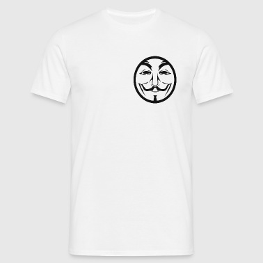 Anonymous coin - T-shirt herr