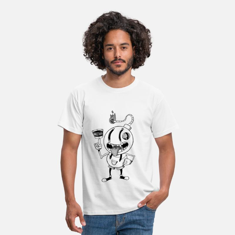 Bestsellers Q4 2018 T-shirts - Brill: 'skey - T-shirt Homme blanc