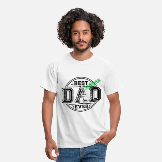Baby T-Shirts - BEST DAD EVER - Men's T-Shirt white