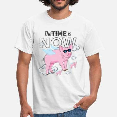 Now Time The Time Is Now - Men's T-Shirt