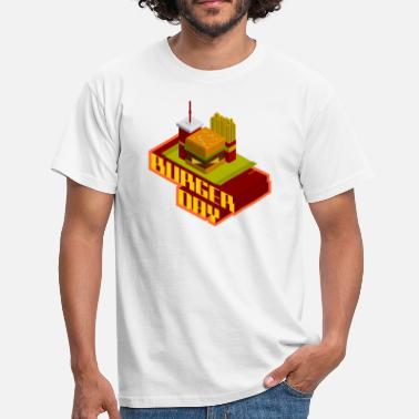 Pixelart burger day - Männer T-Shirt