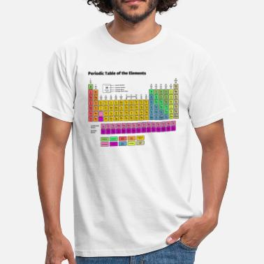 Table Periodic Table of the Elements - Men's T-Shirt