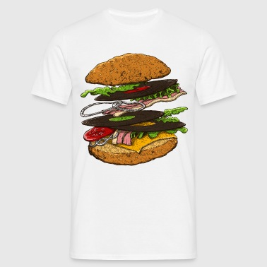 hamburger - T-skjorte for menn