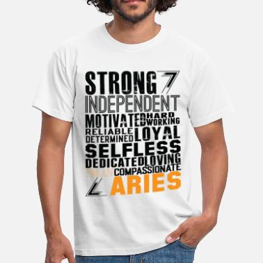 Independent Strong Independent Motivated Aries - Men's T-Shirt
