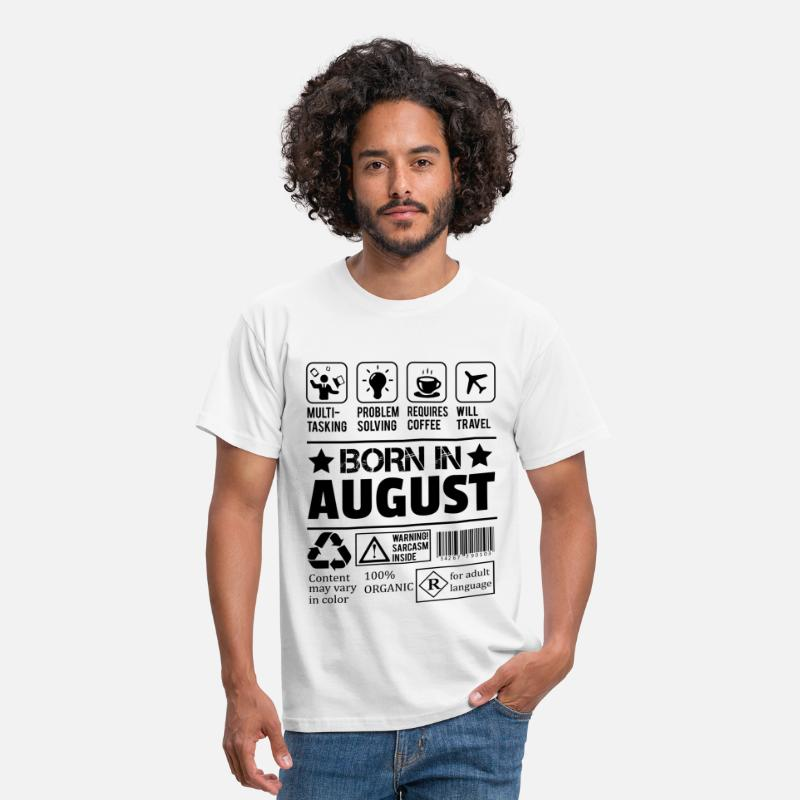 Born T-Shirts - Born In August - Men's T-Shirt white