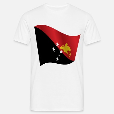 New Wave Waving Flag of Papua New Guinea - Men's T-Shirt