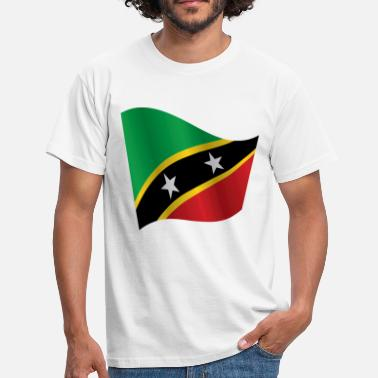Saint Kitts And Nevis Waving Flag of Saint Kitts and Nevis - Men's T-Shirt