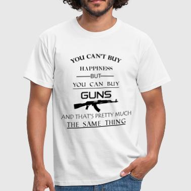 happiness_guns - Mannen T-shirt