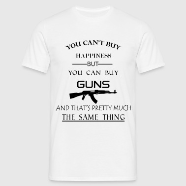 happiness_guns - Männer T-Shirt
