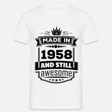 Rocking Made In 1958 And Still Awesome - Men's T-Shirt