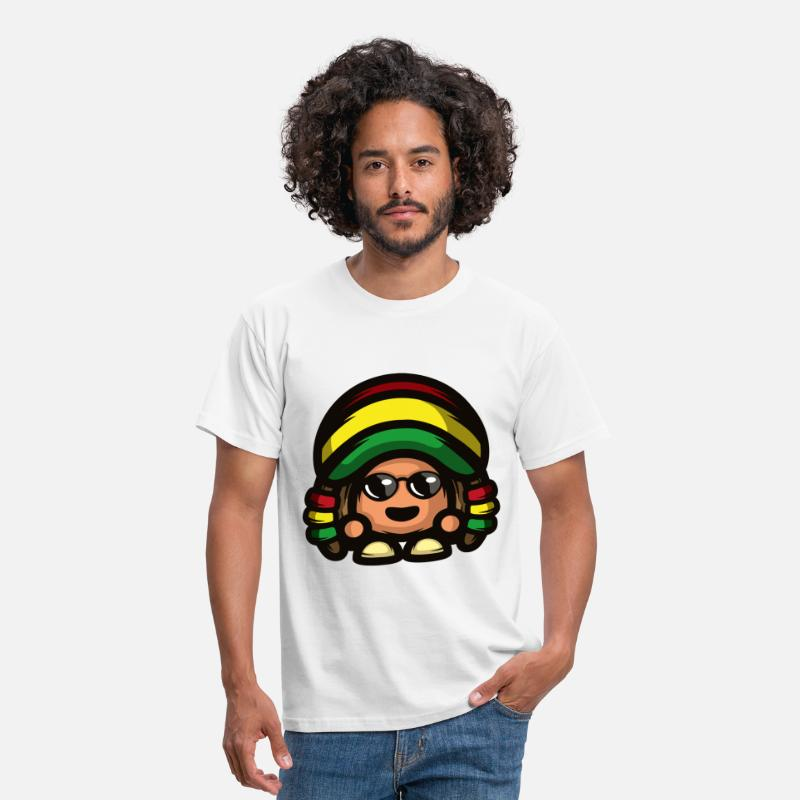 Jamaica T-Shirts - Rasta Mushroom - Men's T-Shirt white