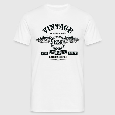 Vintage Perfectly Aged 1958 - Men's T-Shirt