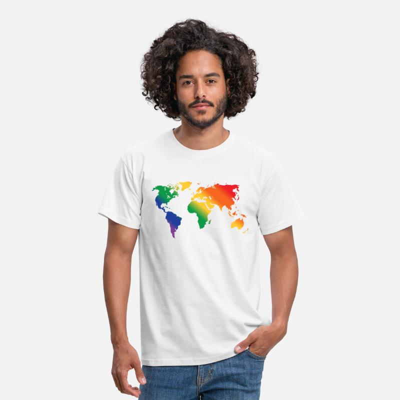 Rainbow T-Shirts - Rainbow World  - Men's T-Shirt white
