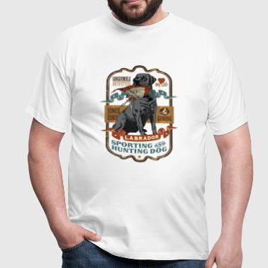labrador_and_pheasant_b - Men's T-Shirt