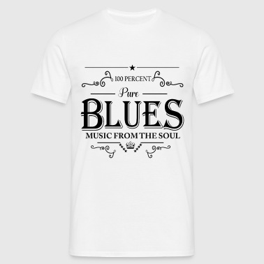 100 Percent Pure Blues Music From The Soul - Men's T-Shirt