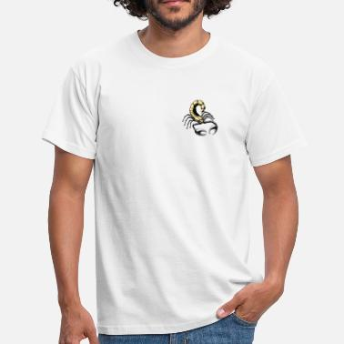 Black Ink scorpion - gold - yellow - Men's T-Shirt